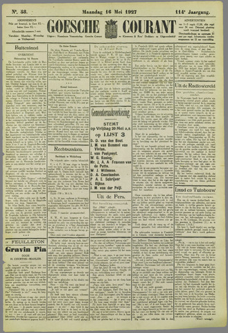 Goessche Courant 1927-05-16