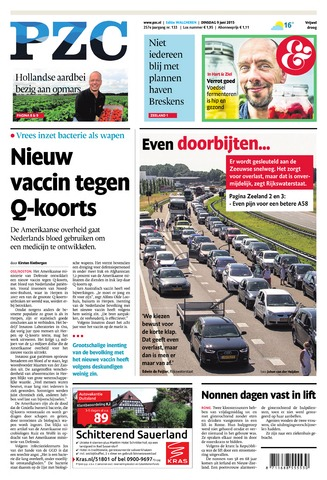 Provinciale Zeeuwse Courant 2015-06-09