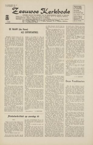 Zeeuwsche kerkbode, weekblad gewijd aan de belangen der gereformeerde kerken/ Zeeuwsch kerkblad 1964-11-06