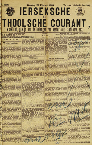 Ierseksche en Thoolsche Courant 1905-02-25