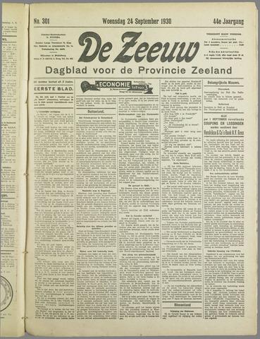 De Zeeuw. Christelijk-historisch nieuwsblad voor Zeeland 1930-09-24