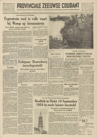 Provinciale Zeeuwse Courant 1953-06-20