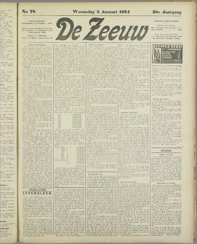 De Zeeuw. Christelijk-historisch nieuwsblad voor Zeeland 1924