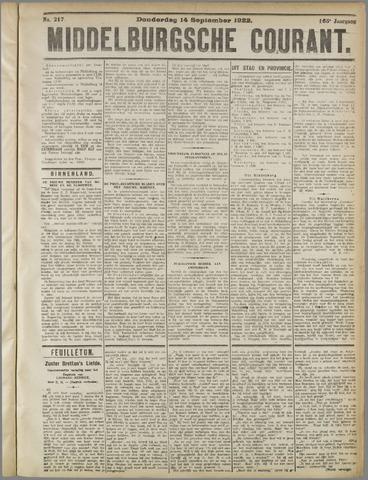 Middelburgsche Courant 1922-09-14