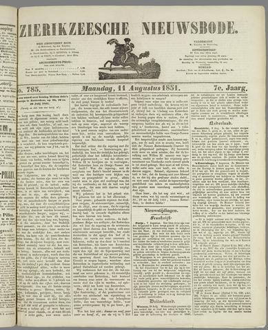 Zierikzeesche Nieuwsbode 1851-08-11