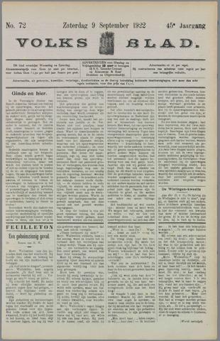 Volksblad 1922-09-09