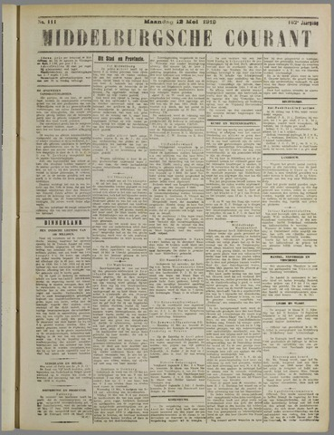 Middelburgsche Courant 1919-05-12