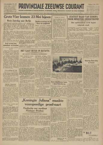 Provinciale Zeeuwse Courant 1949-05-06