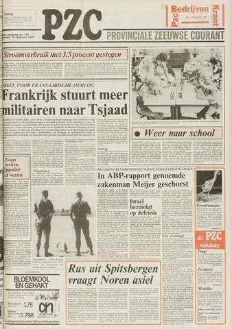 Provinciale Zeeuwse Courant 1983-08-16