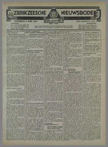 Zierikzeesche Nieuwsbode 1942-04-09