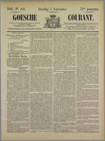 Goessche Courant 1885-09-01