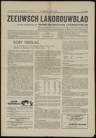 Zeeuwsch landbouwblad ... ZLM land- en tuinbouwblad 1953-07-18
