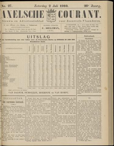 Axelsche Courant 1910-07-02