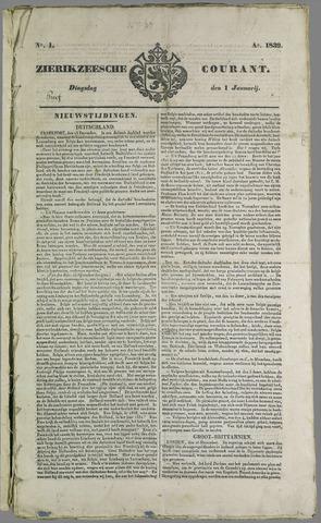 Zierikzeesche Courant 1839