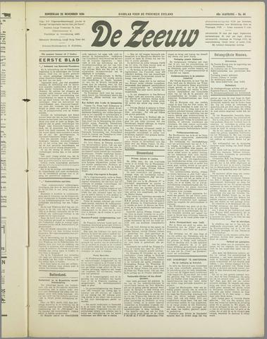 De Zeeuw. Christelijk-historisch nieuwsblad voor Zeeland 1934-11-22