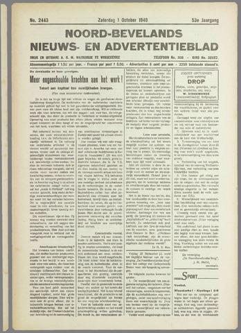 Noord-Bevelands Nieuws- en advertentieblad 1949-10-01