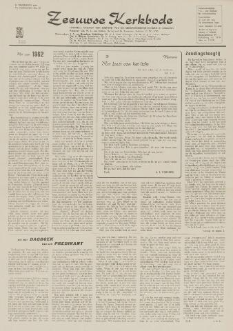 Zeeuwsche kerkbode, weekblad gewijd aan de belangen der gereformeerde kerken/ Zeeuwsch kerkblad 1962-12-21