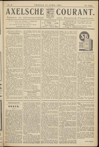 Axelsche Courant 1931-04-10