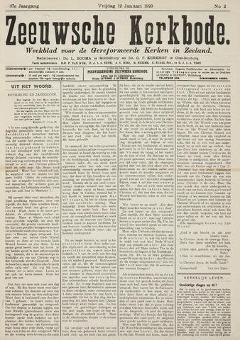 Zeeuwsche kerkbode, weekblad gewijd aan de belangen der gereformeerde kerken/ Zeeuwsch kerkblad 1923-01-12