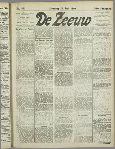 De Zeeuw. Christelijk-historisch nieuwsblad voor Zeeland 1918-07-16