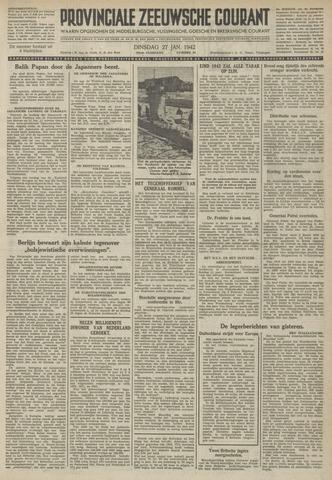 Provinciale Zeeuwse Courant 1942-01-27