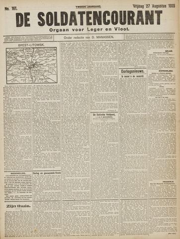 De Soldatencourant. Orgaan voor Leger en Vloot 1915-08-27