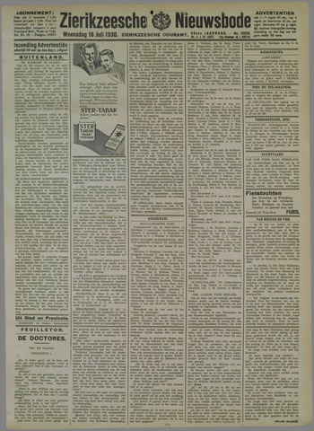 Zierikzeesche Nieuwsbode 1930-07-16