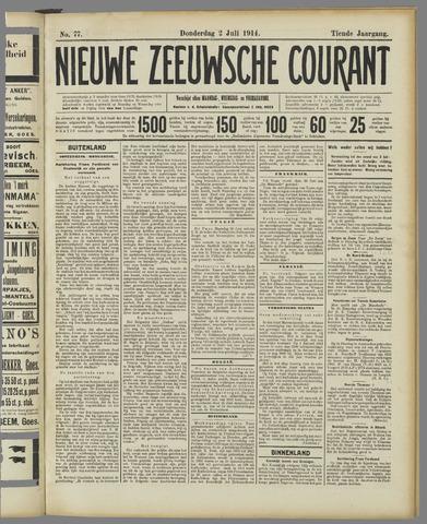 Nieuwe Zeeuwsche Courant 1914-07-02