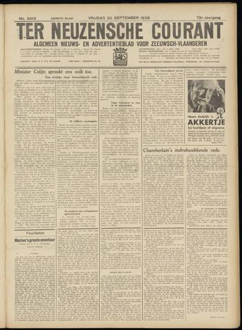 Ter Neuzensche Courant. Algemeen Nieuws- en Advertentieblad voor Zeeuwsch-Vlaanderen / Neuzensche Courant ... (idem) / (Algemeen) nieuws en advertentieblad voor Zeeuwsch-Vlaanderen 1938-09-30