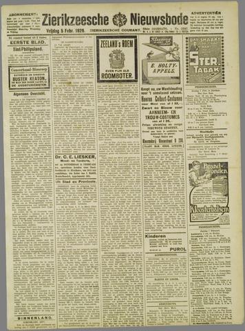Zierikzeesche Nieuwsbode 1926-02-05