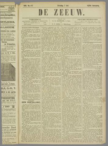 De Zeeuw. Christelijk-historisch nieuwsblad voor Zeeland 1891-07-07