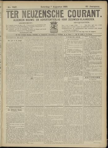 Ter Neuzensche Courant. Algemeen Nieuws- en Advertentieblad voor Zeeuwsch-Vlaanderen / Neuzensche Courant ... (idem) / (Algemeen) nieuws en advertentieblad voor Zeeuwsch-Vlaanderen 1920-08-07