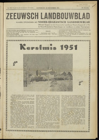 Zeeuwsch landbouwblad ... ZLM land- en tuinbouwblad 1951-12-22