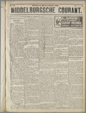Middelburgsche Courant 1922-11-22