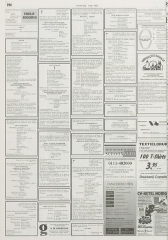 Provinciale Zeeuwse Courant 1 Maart 2001 Pagina 44