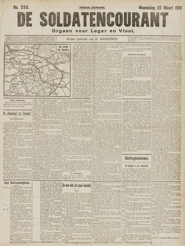 De Soldatencourant. Orgaan voor Leger en Vloot 1916-03-22
