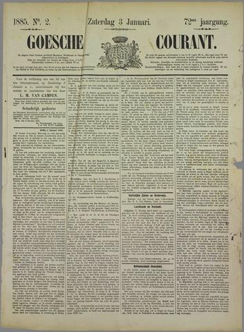 Goessche Courant 1885-01-03