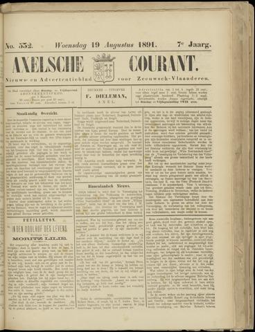 Axelsche Courant 1891-08-19