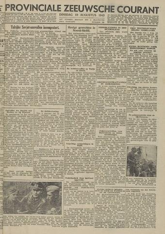 Provinciale Zeeuwse Courant 1943-08-10