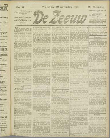 De Zeeuw. Christelijk-historisch nieuwsblad voor Zeeland 1916-11-29