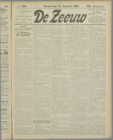 De Zeeuw. Christelijk-historisch nieuwsblad voor Zeeland 1915-08-12