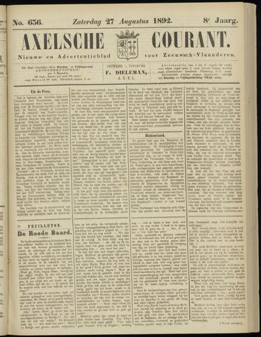 Axelsche Courant 1892-08-27