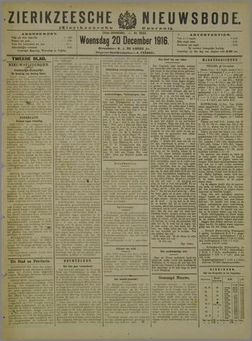 Zierikzeesche Nieuwsbode 1916-12-20