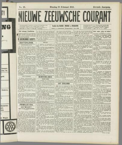 Nieuwe Zeeuwsche Courant 1911-02-28