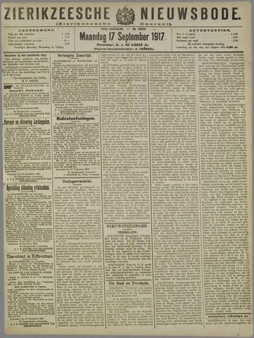 Zierikzeesche Nieuwsbode 1917-09-17