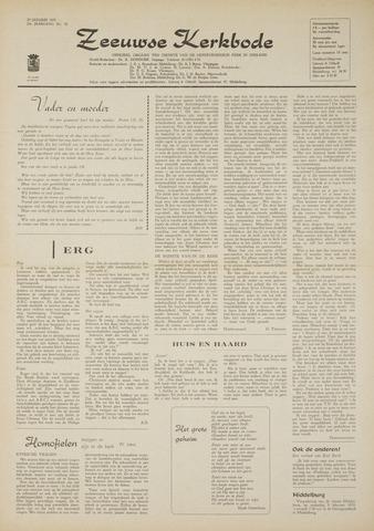 Zeeuwsche kerkbode, weekblad gewijd aan de belangen der gereformeerde kerken/ Zeeuwsch kerkblad 1970-01-29