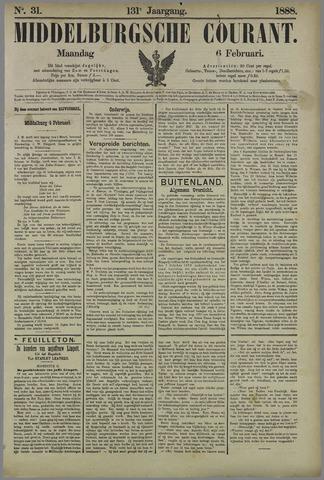 Middelburgsche Courant 1888-02-06