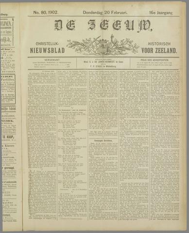 De Zeeuw. Christelijk-historisch nieuwsblad voor Zeeland 1902-02-20