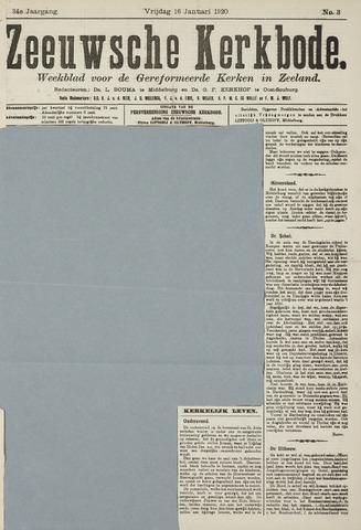 Zeeuwsche kerkbode, weekblad gewijd aan de belangen der gereformeerde kerken/ Zeeuwsch kerkblad 1920-01-16