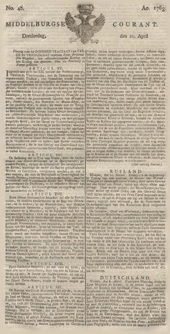 Middelburgsche Courant 1763-04-21